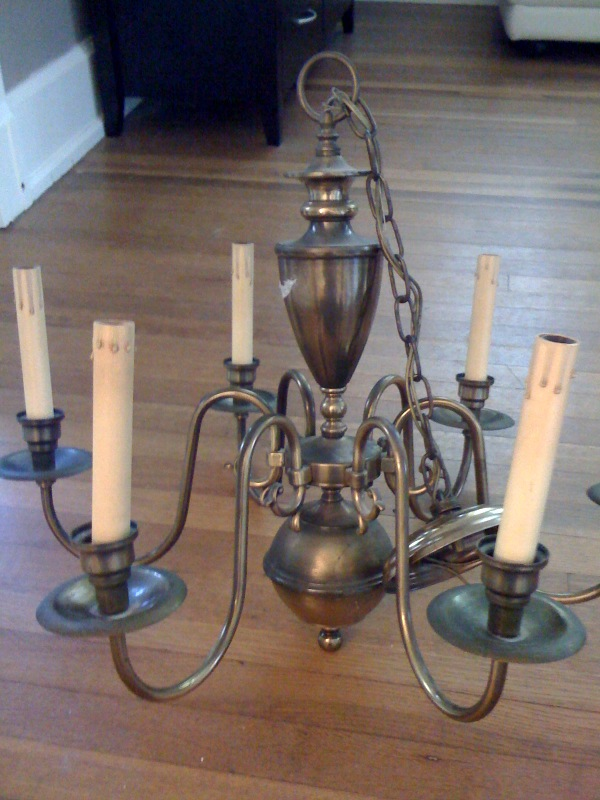 A must have tutorial how to paint a brass chandelier house made home when aloadofball Images
